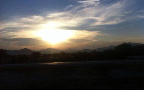 Así amanece en Saltillo, capital del Estado de Coahuila